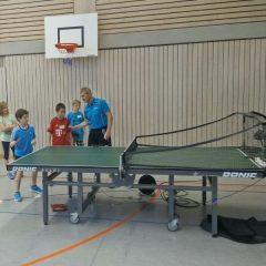 Tischtennis-Schnupperkurs für die Grundschüler
